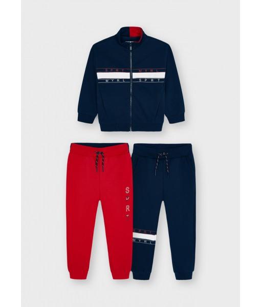 Σετ ζακέτα και 2 παντελόνια φόρμες Mayoral mini αγόρι 11-04833-093