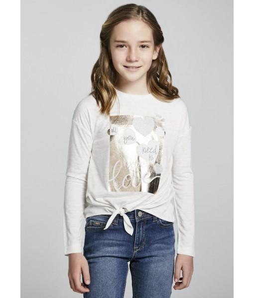 Μπλούζα κόμπος μακρυμάνικη junior κορίτσι 11-07087-070