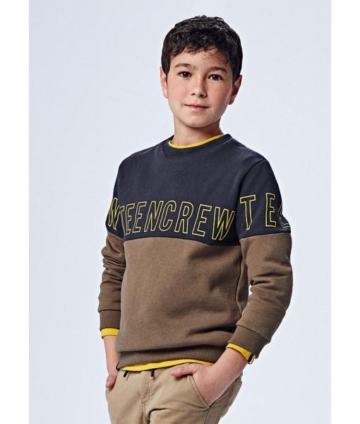 Μπλούζα Φούτερ colour block μακρυμάνικη Mayoral junior αγόρι 11-07408-083
