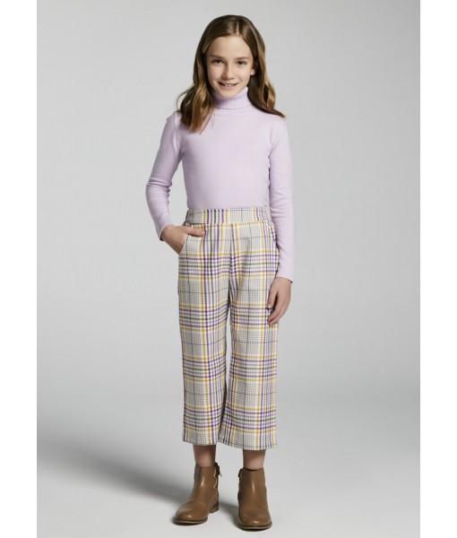 Παντελόνι μακρύ cropped καρό Mayoral junior κορίτσι 11-07564-023