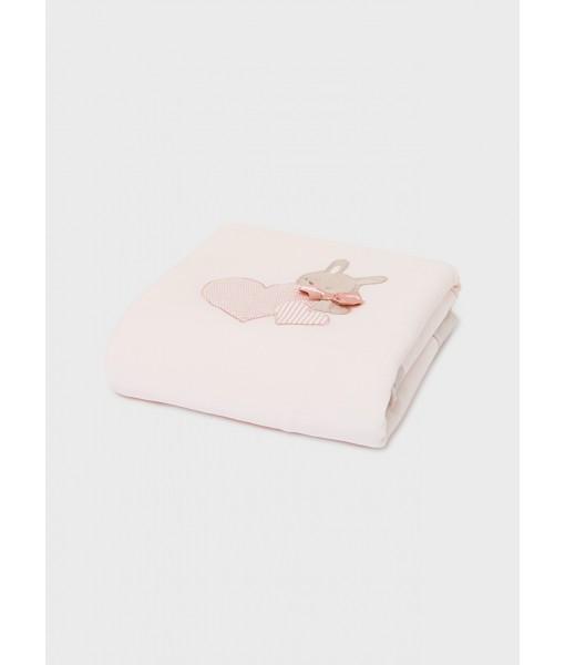 Κουβέρτα νεογέννητο κορίτσι 100cm x 80cm Mayoral 11-09019-021
