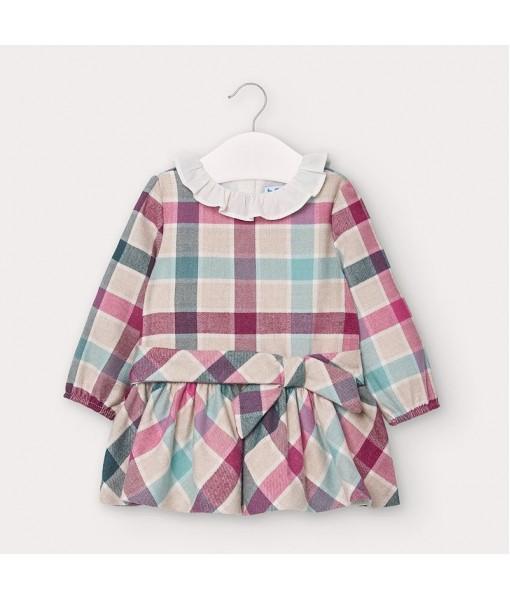 Φόρεμα καρό baby κορίτσι Mayoral 10-02959-035
