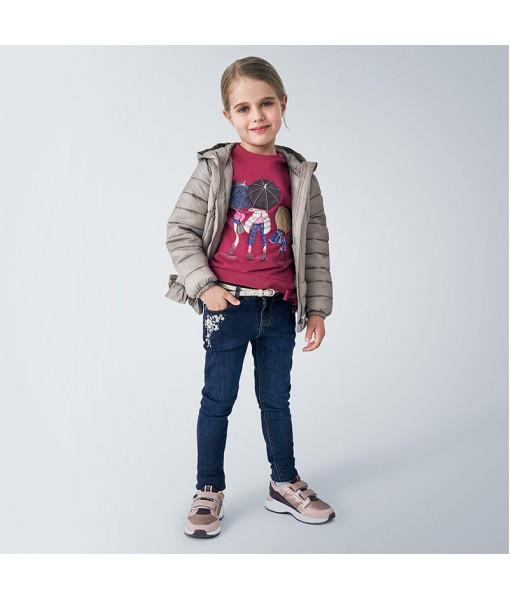 Παντελόνι τζιν μεταλλιζέ skinny fit Mayoral κορίτσι 10-04550-045