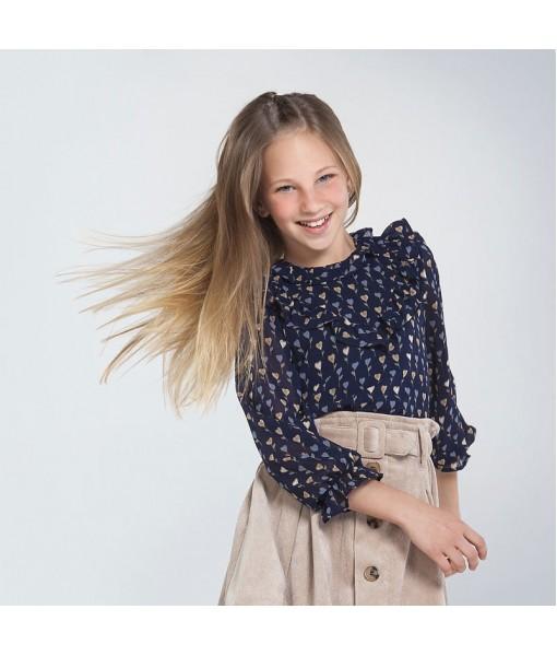 Μπλούζα γάζα σταμπωτή Mayoral κορίτσι 10-07143-016