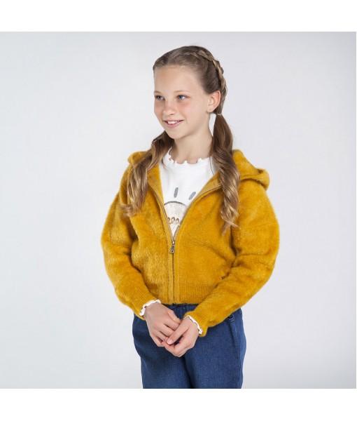 Ζακέτα πλεκτή γουνάκι Mayoral κορίτσι 10-07338-016