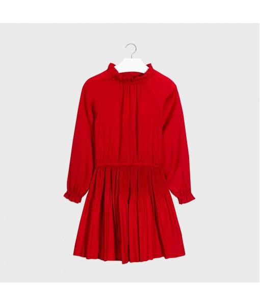 Φόρεμα σατέν πιέτες Mayoral κορίτσι10-07968-072