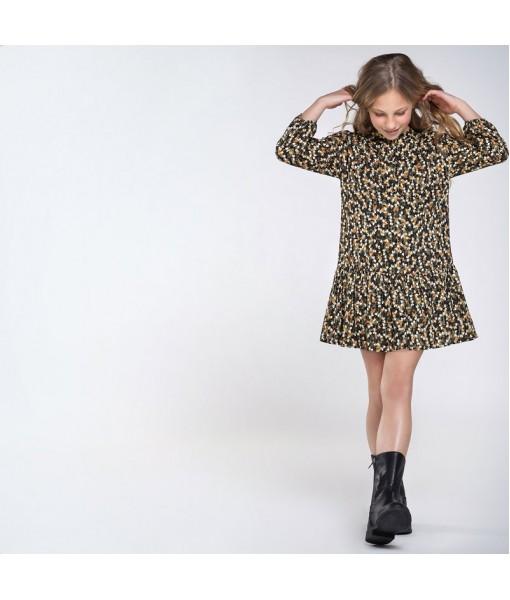 Φόρεμα σταμπωτό μεταλλιζέ Mayoral κορίτσι 10-07969-002