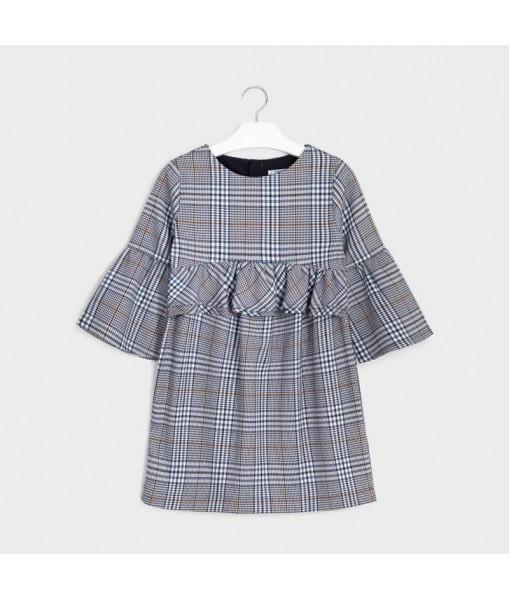 Φόρεμα καρό βολάν Mayoral κορίτσι 10-07973-044