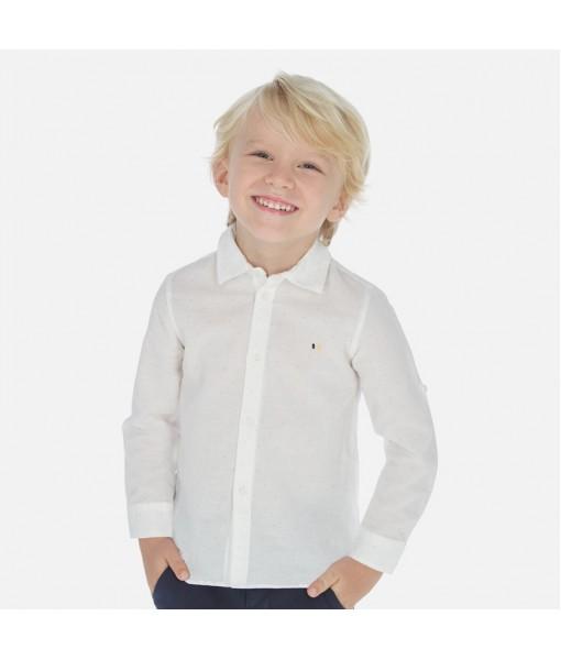 Πουκάμισο μακρυμάνικο λινό σταμπωτό αγόρι Mayoral 20-00141-022