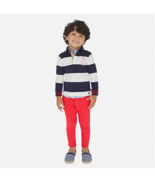 Παντελόνι μακρύ λοξότσεπο slim fit αγόρι Mayoral 20-00512-056