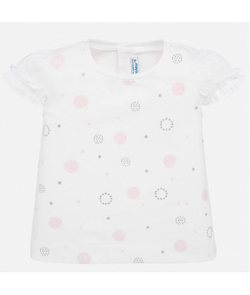 Μπλούζα κοντομάνικη πουά κορίτσι Mayoral 20-01057-055