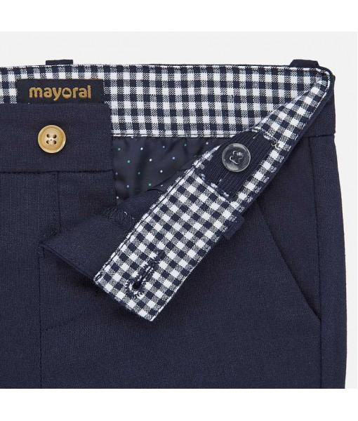 Παντελόνι μακρύ λινό λοξότσεπο baby αγόρι Mayoral 20-01548-055