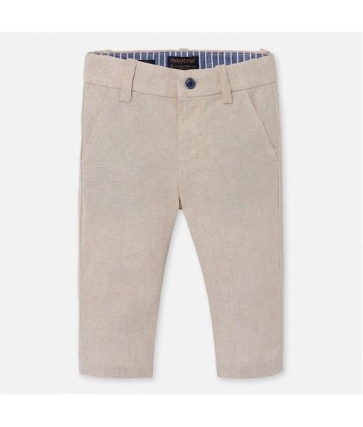 Παντελόνι μακρύ λινό λοξότσεπο baby αγόρι Mayoral 20-01548-056