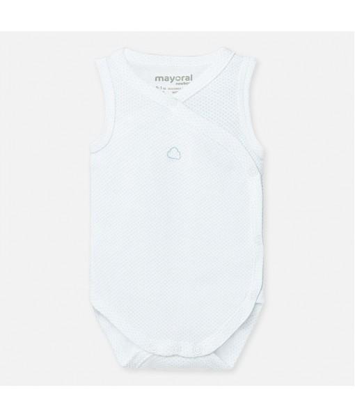 Κορμάκι αμάνικο νεογέννητο αγόρι Mayoral 20-01767-037