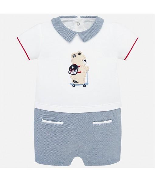 Φορμάκι πιτζαμάκι κοντό νεογέννητο αγόρι Mayoral 20-01774-018