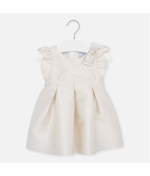 Φόρεμα με ζακάρ φιόγκος baby κορίτσι Mayoral 20-01906-072