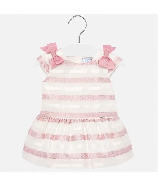 Φόρεμα ριγέ φιόγκοι baby κορίτσι Mayoral 20-01908-037