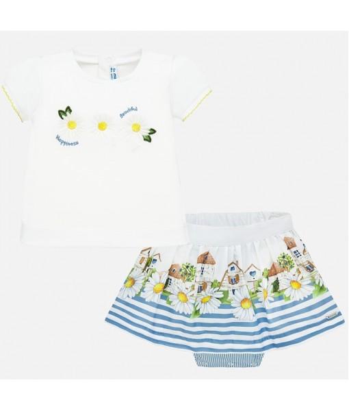 Σετ μπλούζα σχέδιο και φούστα baby κορίτσι Mayoral 20-01952-083