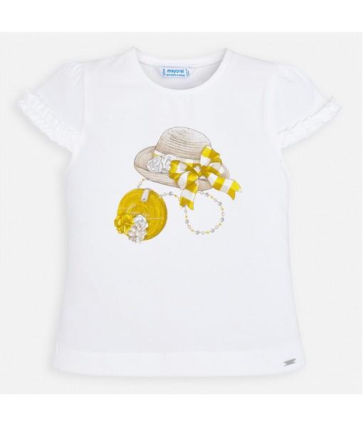 Μπλούζα κοντομάνικη βολάν κορίτσι Mayoral 20-03001-069