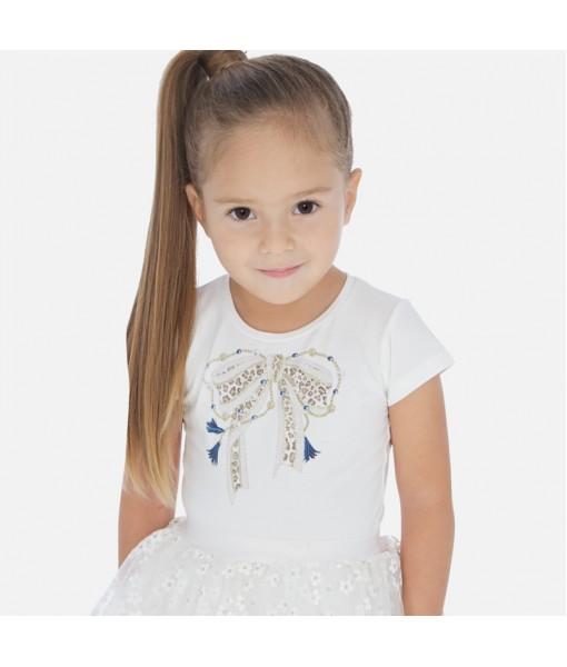 Μπλούζα κοντομάνικη φιόγκος κορίτσι Mayoral 20-03007-026