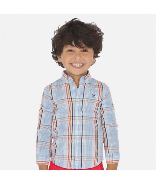 Πουκάμισο μακρυμάνικο καρό αγόρι Mayoral 20-03172-071