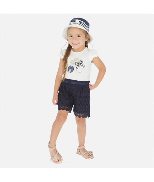 Παντελόνι κοντό γκιπούρ κορίτσι Mayoral 20-03274-030