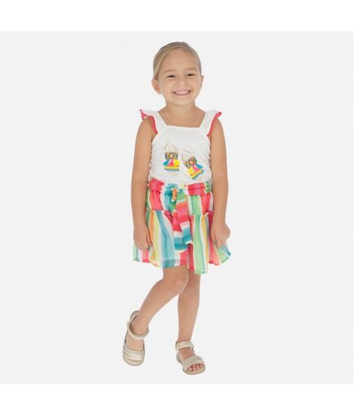 Παντελόνι κοντό ριγέ κορίτσι Mayoral 20-03281-007