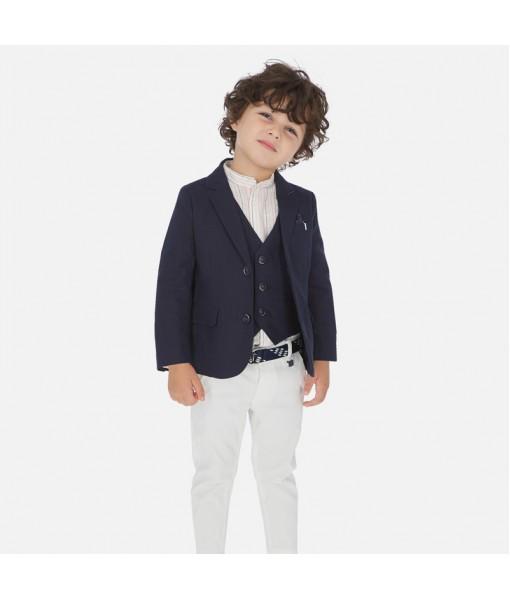 Παντελόνι μακρύ πικέ ζώνη slim fit αγόρι Mayoral 20-03531-043