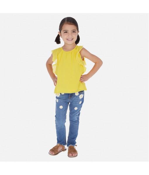 Παντελόνι μακρύ τζιν skinny fit κορίτσι Mayoral 20-03542-012