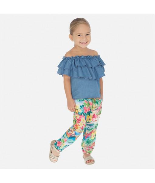 Παντελόνι μακρύ tropical κορίτσι Mayoral 20-03544-007
