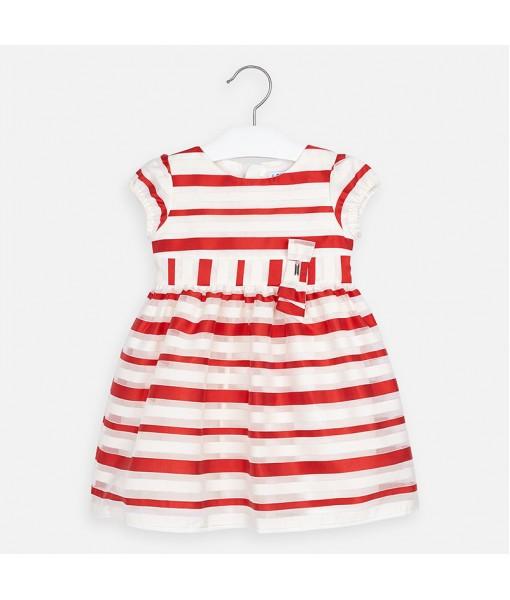 Φόρεμα ρίγες φιόγκος κορίτσι Mayoral 20-03926-022