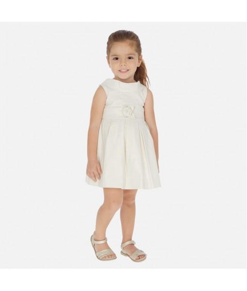 Φόρεμα αμάνικο μεταλιζέ σαμπανιζέ κορίτσι Mayoral 20-03927-002