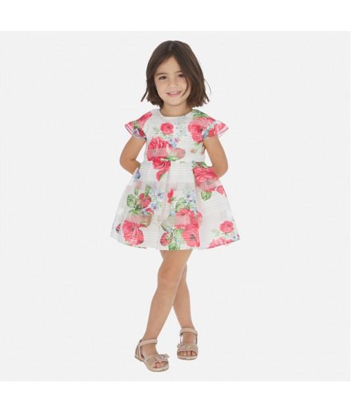 Φόρεμα σταμπωτό λουλούδια κορίτσι Mayoral 20-03930-070