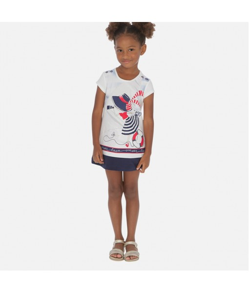 Φόρεμα σχέδιο διακοσμητικά κουμπιά κορίτσι Mayoral 20-03936-010