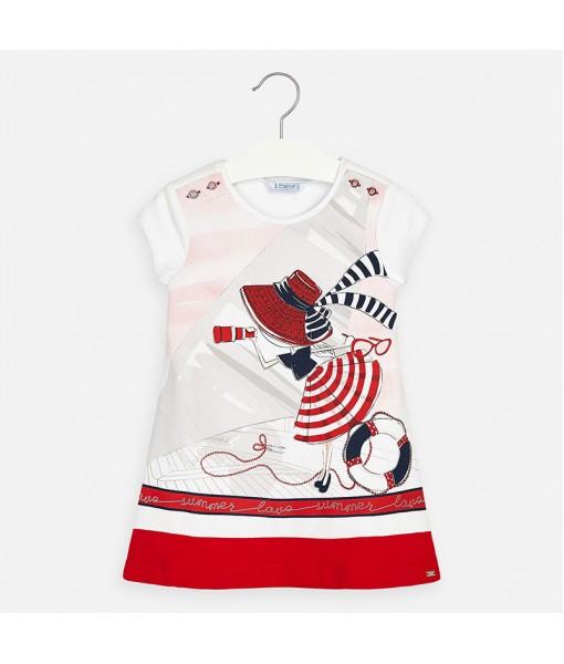 Φόρεμα σχέδιο διακοσμητικά κουμπιά κορίτσι Mayoral 20-03936-011