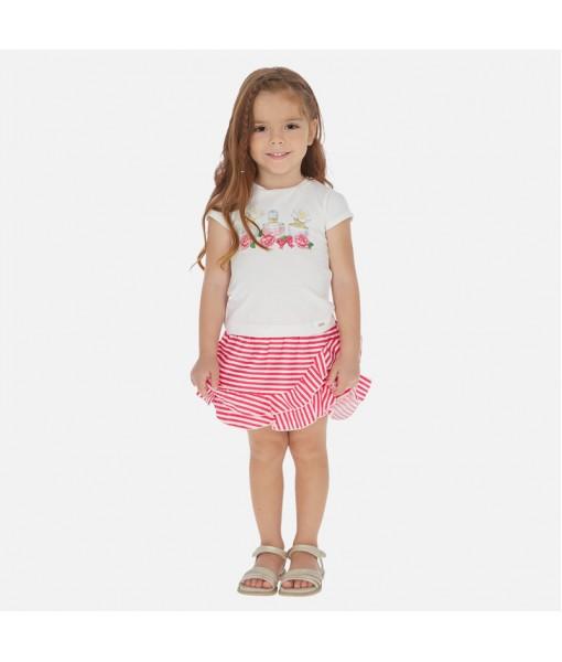 Σετ μπλούζα και φούστα ριγέ κορίτσι Mayoral 20-03964-010