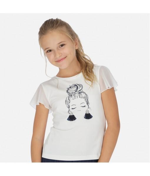 Μπλούζα κοντομάνικη κορίτσι Mayoral 20-06004-047