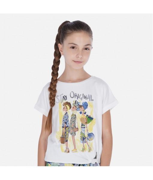 Μπλούζα κοντομάνικη κορίτσι Mayoral 20-06020-014