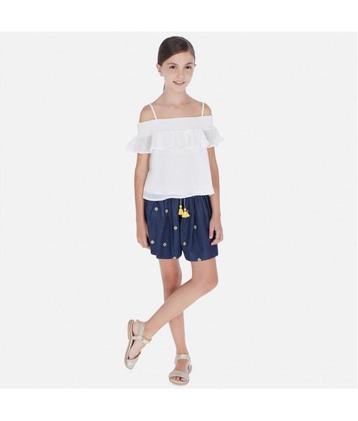 Παντελόνι κοντό κέντημα κορίτσι Mayoral 20-06257-005