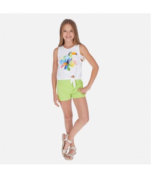 Σετ μπλούζα και σορτς κόμπος κορίτσι Mayoral 20-06265-049