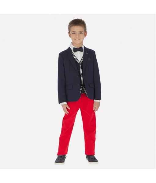 Παντελόνι μακρύ λοξότσεπο πικέ slim fit αγόρι Mayoral 20-06519-010