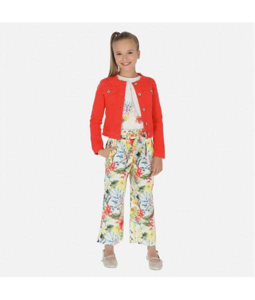 Παντελόνι μακρύ σατέν σταμπωτό κορίτσι Mayoral 20-06531-082