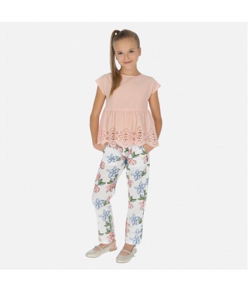 Παντελόνι μακρύ γάζα σταμπωτή κορίτσι Mayoral 20-06533-075