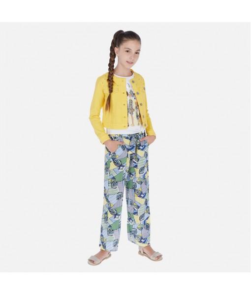 Παντελόνι μακρύ σταμπωτό κορίτσι Mayoral 20-06535-010