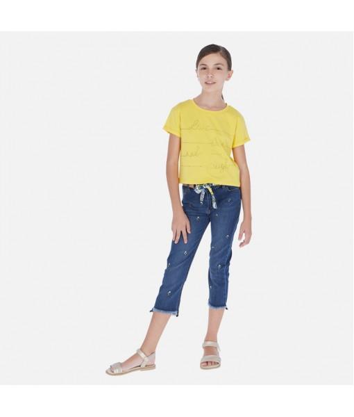 Παντελόνι μακρύ τζιν slim cropped κορίτσι Mayoral 20-06536-086