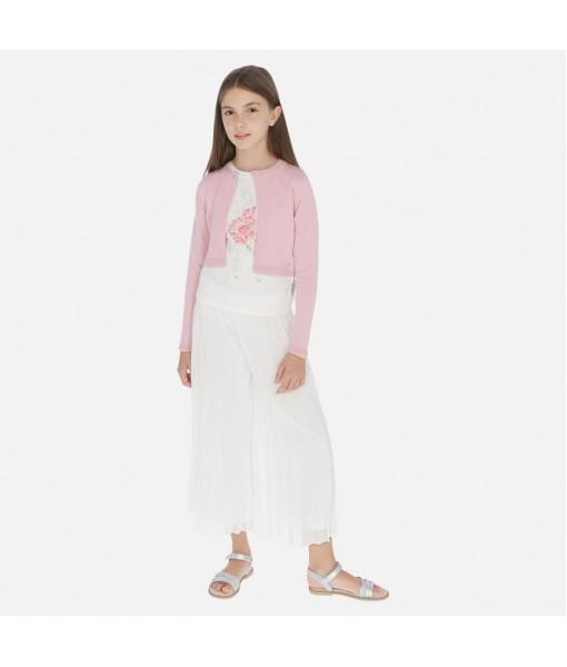 Φούστα παντελόνι γάζα πλισέ κορίτσι Mayoral 20-06955-031