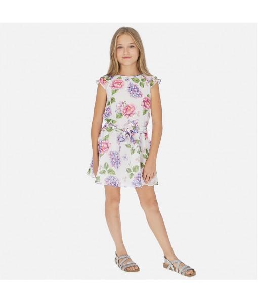 Φόρεμα γάζα σταμπωτό κορίτσι Mayoral 20-06962-068