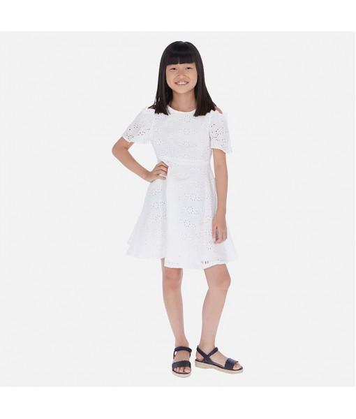 Φόρεμα κιπούρ έξωμο κορίτσι Mayoral 20-06983-077