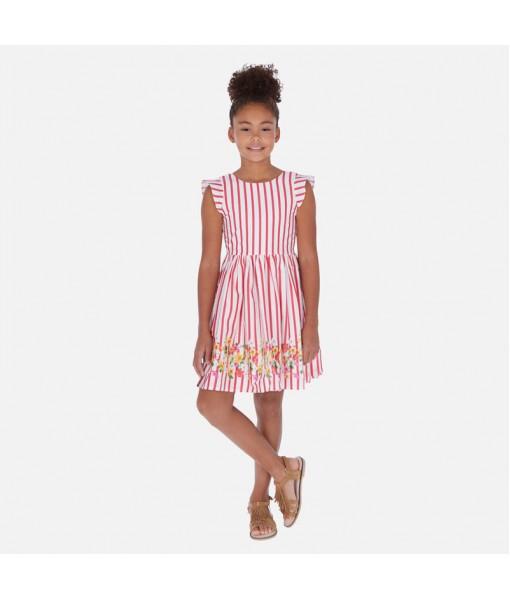 Φόρεμα ποπλίνα λουλούδια κορίτσι Mayoral 20-06984-067