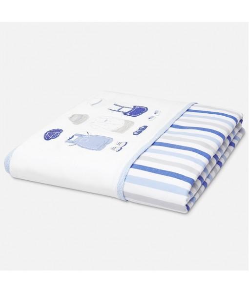 Κουβέρτα 90cm x 80cm baby αγόρι Mayoral 20-09661-089